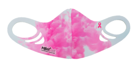 MF7 Kids Antimicrobial Spacer Face Mask - Pink Ribbon Watercolor